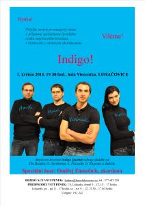 Plakát Indigo Quartet 1.5.14 Luhačovice oprava
